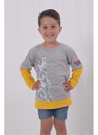 iandb Baskılı Erkek Çocuk Sweatshirt Gia Sarı